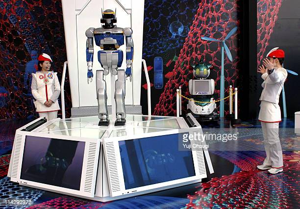 Robots at NEDO Pavilion during EXPO 2005 AICHI Japan Pavilion Zone at Aichi Expo in Nagakute Japan
