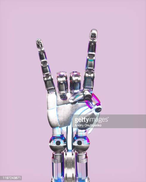 ai robot's hand - robot arm stock pictures, royalty-free photos & images