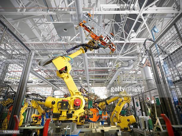 Robots in car factory
