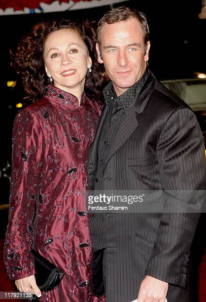 Robson Green and wife during Celebrities Join England Rugby Team For One Off Show For ITV at London Television Centre in London Great Britain