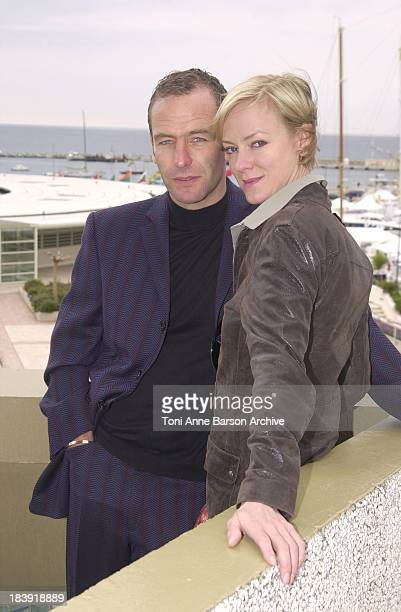 Robson Green Hermione Norris during MIPTV 2002 Wire in the Blood Robson Green Hermione Norris Photocall at Palais des Festivals in Cannes France