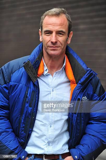 Robson Green seen leaving ITV studio's on February 4 2011 in London England