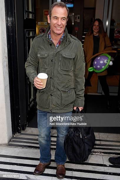 Robson Green seen leaving the BBC Radio 2 Studios on January 23 2015 in London England