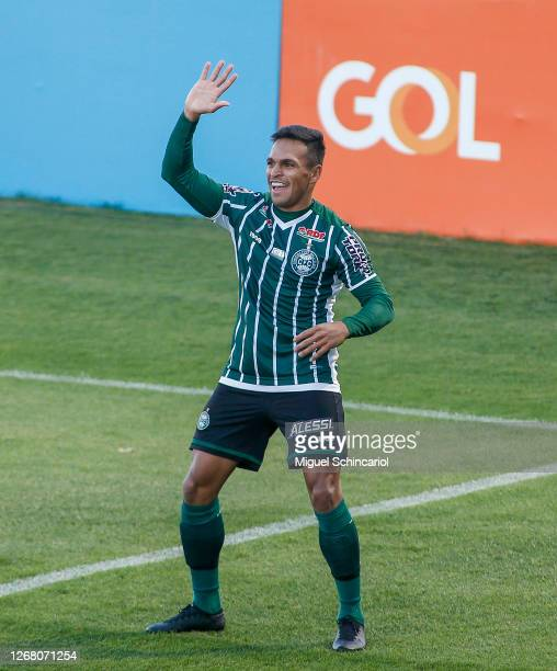 Robson of Coritiba celebrates after scoring his team second goal during a match between Red Bull Bragantino and Coritiba as part of Brasileirao...
