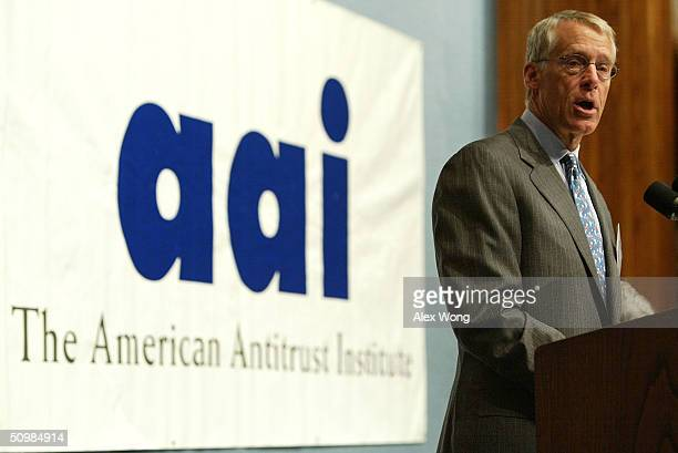 S Robson Walton Chairman of WalMart Stores Inc addresses the American Antitrust Institute's 5th annual conference on buyer power and antitrust June...