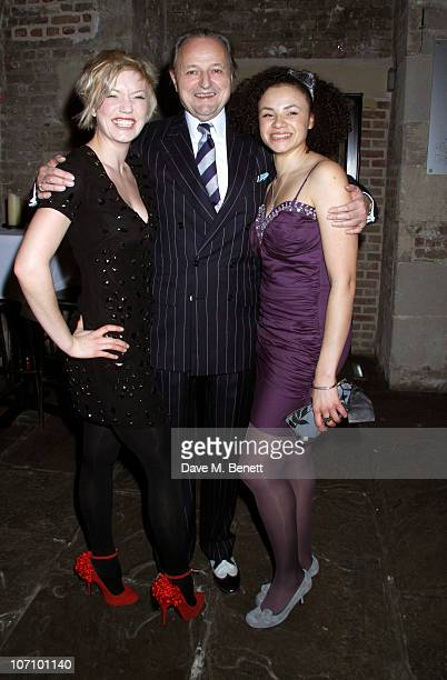 Robyn Addison and Peter Bowles with Carlyss Peer attend The Rivals opening night after party at The Crypt on November 23 2010 in LondonEngland