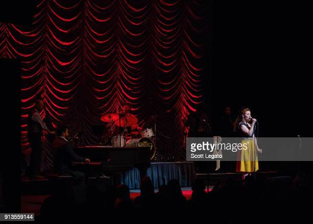 Robyn Adele Anderson performs with Scott Bradlee's Post Modern Jukebox at The Fillmore on February 2 2018 in Detroit Michigan