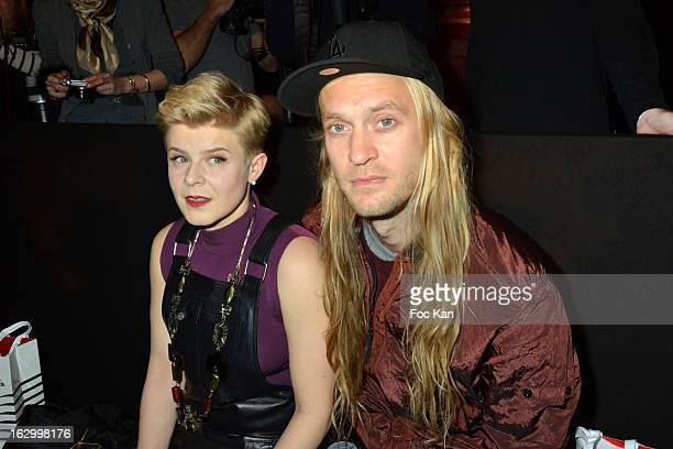 Robyn and Max Vitali attend the Jean Paul Gaultier Fall/Winter 2013 ReadytoWear show as part of Paris Fashion Week at Sall Wagram on March 2 2013 in...