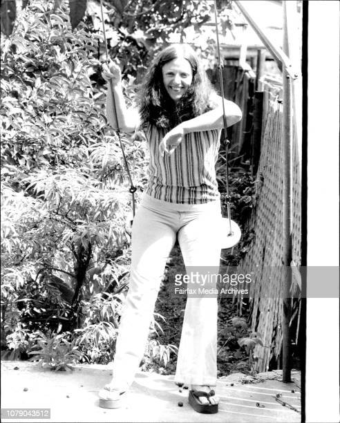 Robyn Archer testing her self on the swing in her backyard at her home at PetershamTo go with story by Christine Megan on the return to the Seymour...