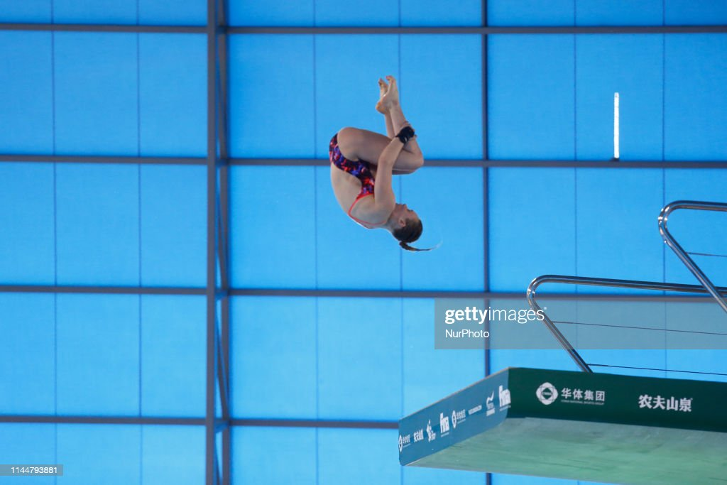 Robyn BIRCH of Great Britain competes in the Women's 10 meter