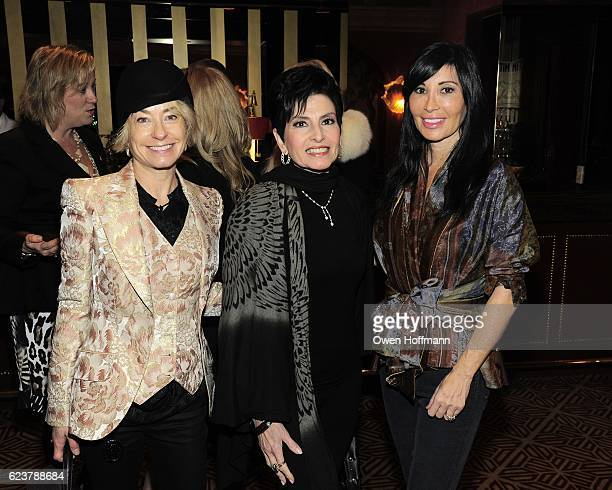 Robyn Cofer, Arlene Lazare and Guest attend Cassandra Seidenfeld Hosts Impromptu Ladies' Luncheon at Doubles Club on November 15, 2016 in New York...