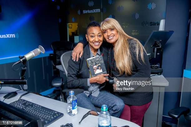 Robyn Crawford with Tracey Jordan as she visits SiriusXM Studios on November 11 2019 in New York City
