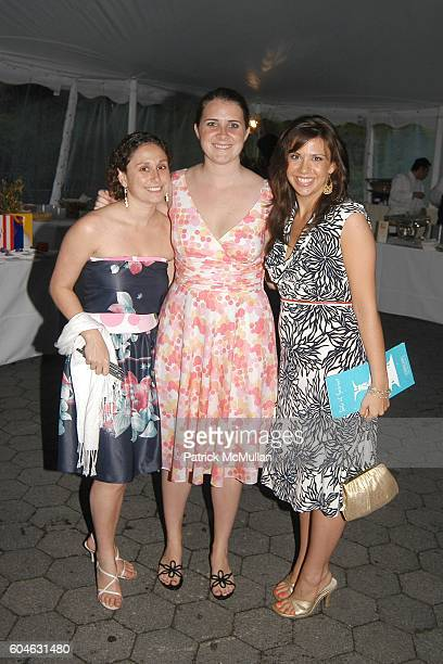Robyn Delman Grace Drinker and Jillian Marie Kell attend Taste of Summer Benefit Hosted by Central Park Conservancy at The Bandshell in Central Park...