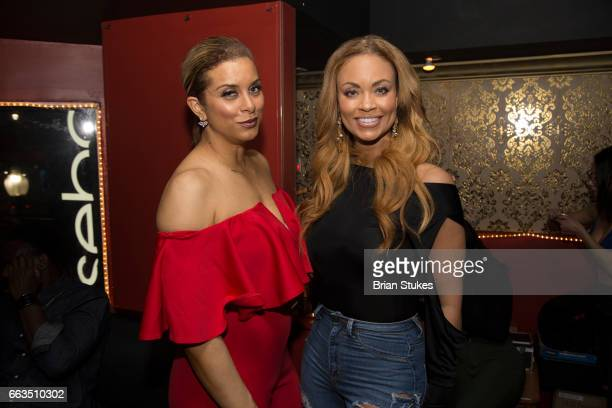 Robyn Dixon and Gizelle Bryant attend RHOP's Robyn Dixon's birthday at Rosebar DC on March 31 2017 in Washington DC