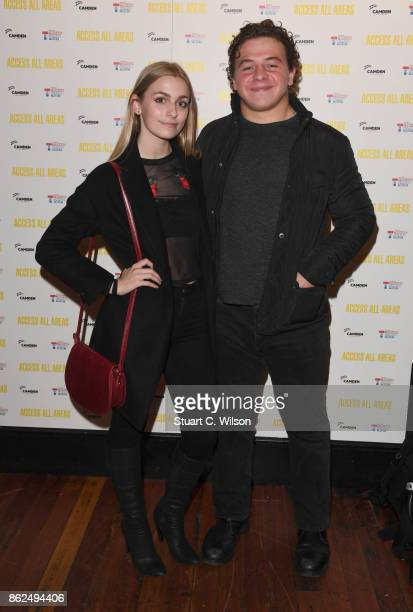 Robyn Emerson and Daniel Roche arrive at the 'Access All Areas' VIP gala screening held at Proud Camden on October 17, 2017 in London, England.
