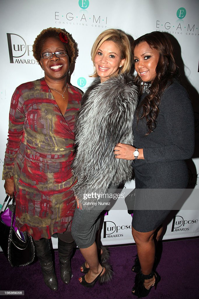 Robyn Greene Arrington, Erika Liles, and Melissa Imani attend the 2012 EGAMI Consulting Group Purpose Awards at Beauty & Essex on November 13, 2012 in New York City.