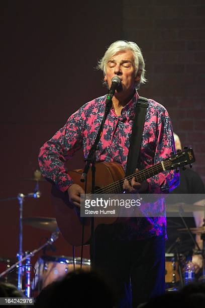 Robyn Hitchcock performs on stage at A 60th Birthday Tribute To Robyn Hitchcock at Village Underground London 28th February 2013