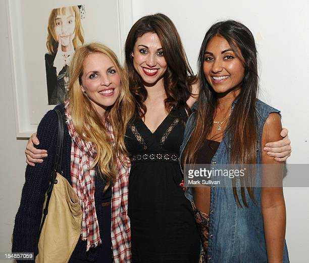 Robyn Holt artist Diane MarshallGreen and Priya Satiani during the opening reception for Diane MarshallGreen's Lolitas at America Martin Gallery on...