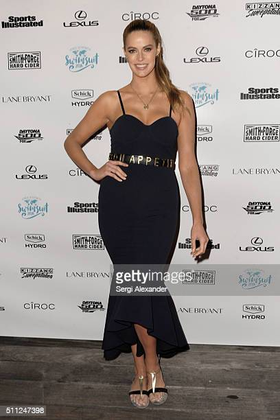 Robyn Lawley attends A Night at Sea VIP Boat Cruise sponsored by Sports Illustrated Swimsuit 2016 Yacht Cruise on February 18 2016 in Miami Florida