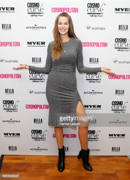 Robyn Lawley attends at the Cosmo Curve casting on March 17 2018 in Sydney Australia
