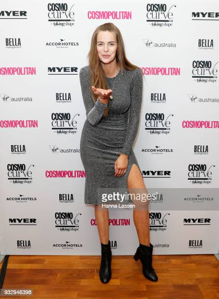 Robyn Lawley attends the Cosmo Curve Casting with Robyn Lawley on March 17 2018 in Sydney Australia