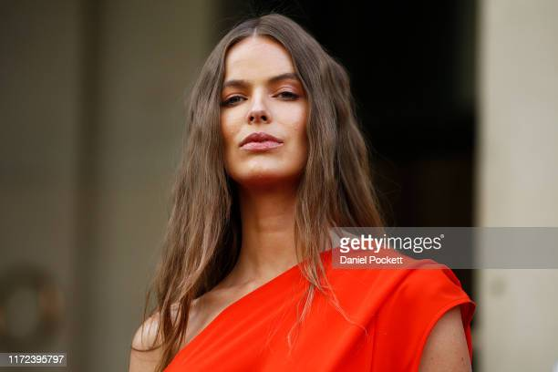 Robyn Lawley poses during Pop Up 7 - Bella Unsigned Model Search at Melbourne Fashion Week on September 05, 2019 in Melbourne, Australia.