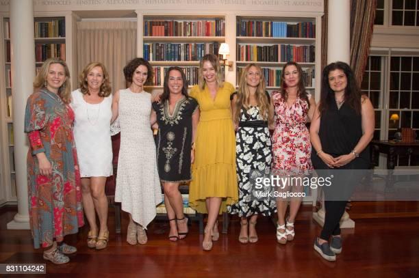 Robyn Lea Laurie Gelman Elizabeth Vargas Samantha Yanks Marisa Hermer Jessica Siskin Annie Falk and Alex Guarnaschelli attend Hamptons Magazine's...