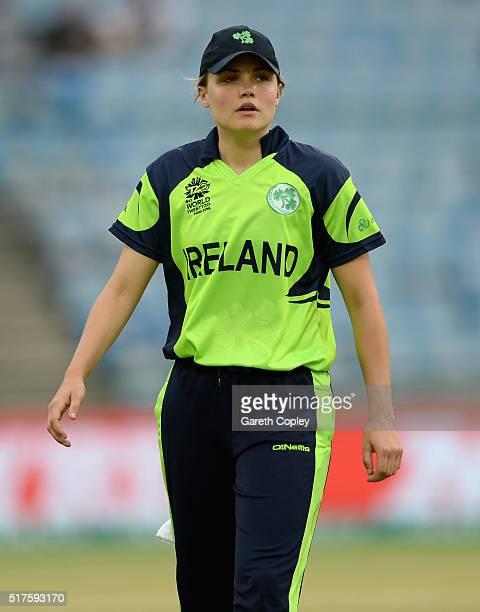 Robyn Lewis of Ireland during the Women's ICC World Twenty20 India 2016 match between Australia and Ireland at Feroz Shah Kotla Ground on March 26...