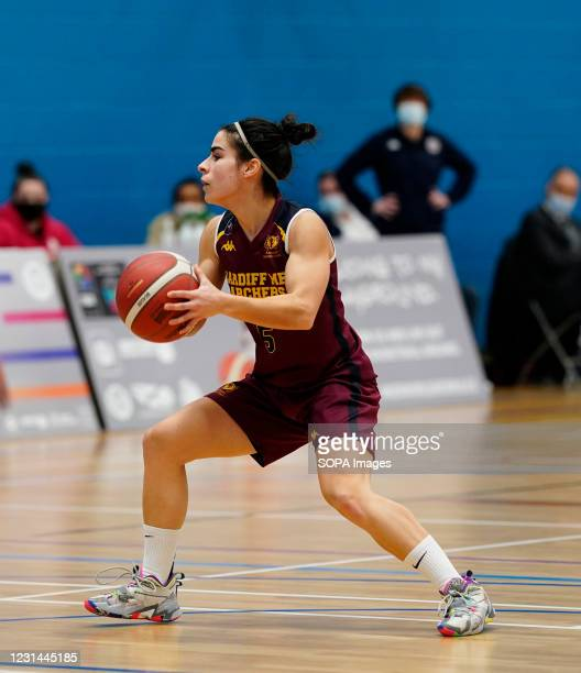 Robyn Lewis seen in action during the Women's British Basketball League match between WBBL Cardiff Archers and Newcastle Eagles at Cardiff Archers...