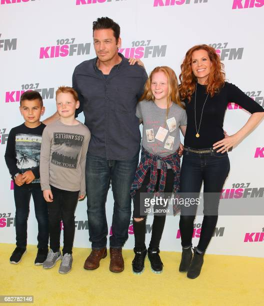 Robyn Lively and Bart Johnson attend the 1027 KIIS FM's 2017 Wango Tango on May 13 2017 in Carson California