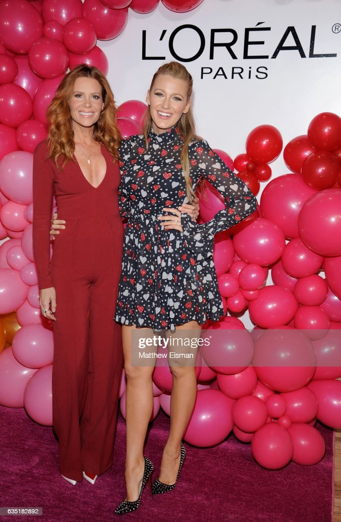 Robyn Lively and Blake Lively attend the L'Oreal Paris Paints + Colorista launch event at West Edge on February 13, 2017 in New York City.