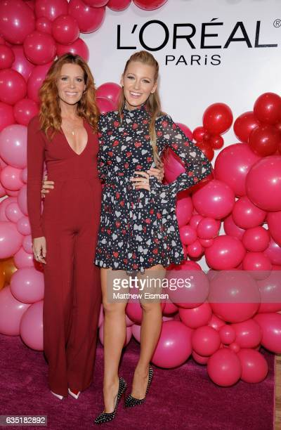 Robyn Lively and Blake Lively attend the L'Oreal Paris Paints Colorista launch event at West Edge on February 13 2017 in New York City