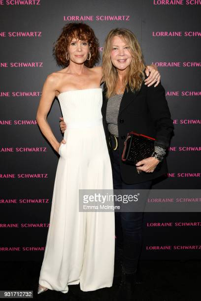 Robyn Lively and Elaine Lively attend Lorraine Schwartz launches The Eye Bangle a new addition to her signature Against Evil Eye Collection at...