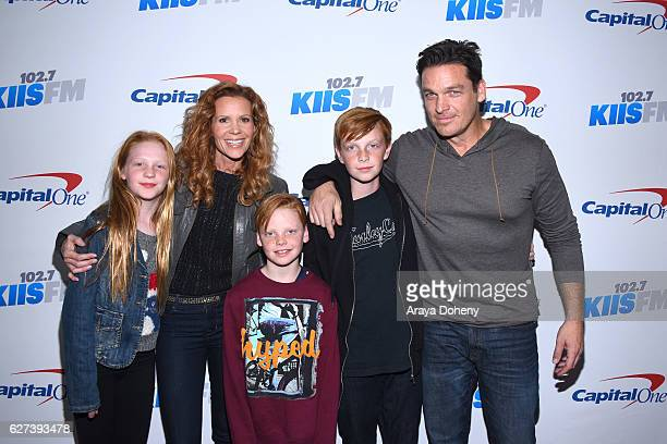 Robyn Lively Bart Johnson and their children attend the 1027 KIIS FM's Jingle Ball 2016 at Staples Center on December 2 2016 in Los Angeles California