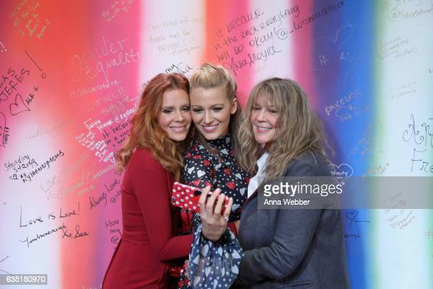 Robyn Lively Blaike Lively and Elaine Lively attend the L'Oreal Paris Paints Colorista launch event at West Edge on February 13 2017 in New York City