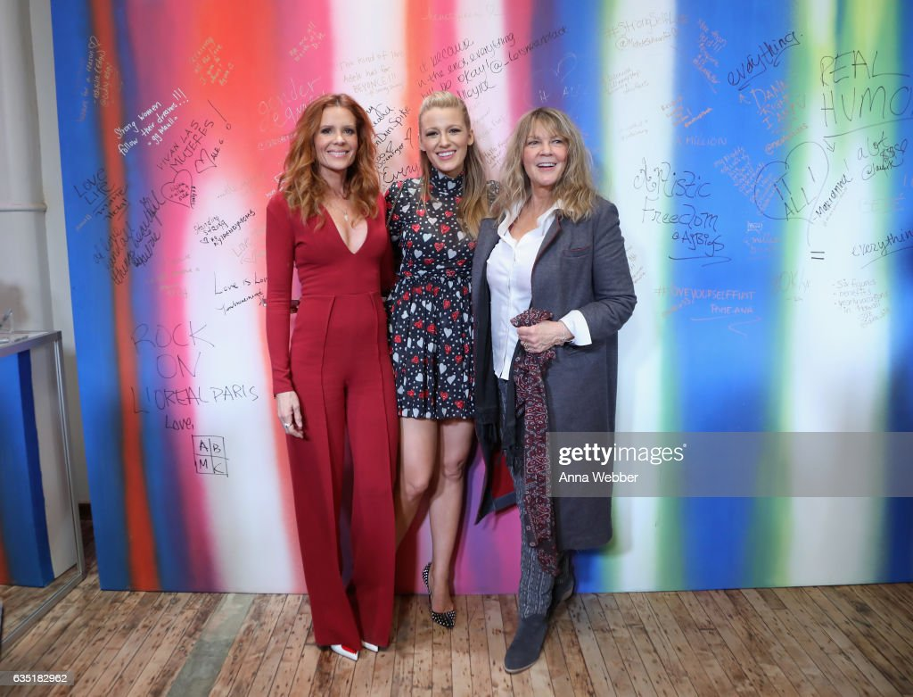 Robyn Lively, Blaike Lively and Elaine Lively attend the L'Oreal Paris Paints + Colorista launch event at West Edge on February 13, 2017 in New York City.