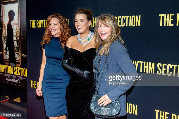 Robyn Lively Blake Lively and Elaine Lively attend The Rhythm Section New York Screening at Brooklyn Academy of Music on January 27 2020 in New York...