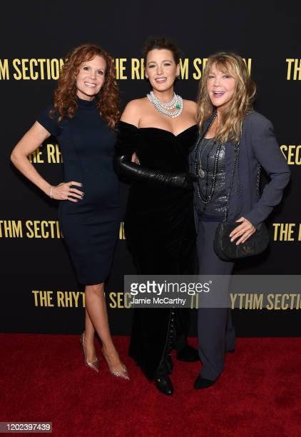 Robyn Lively Blake Lively and Elaine Lively attend the screening of The Rhythm Section at Brooklyn Academy of Music on January 27 2020 in New York...
