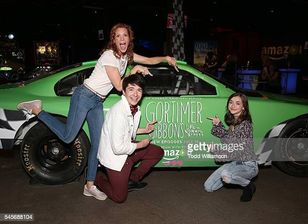 Robyn Lively Sloane Morgan Siegel and Ashley Boettcher attend a Gortimer Gibbon's Life On Normal Street's celebration by Amazon and J14 at Racer's...