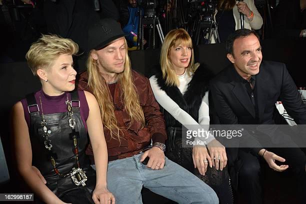 Robyn Max Vitali Tina Grigouriou and Nikos Aliagas attend the Jean Paul Gaultier Fall/Winter 2013 ReadytoWear show as part of Paris Fashion Week at...