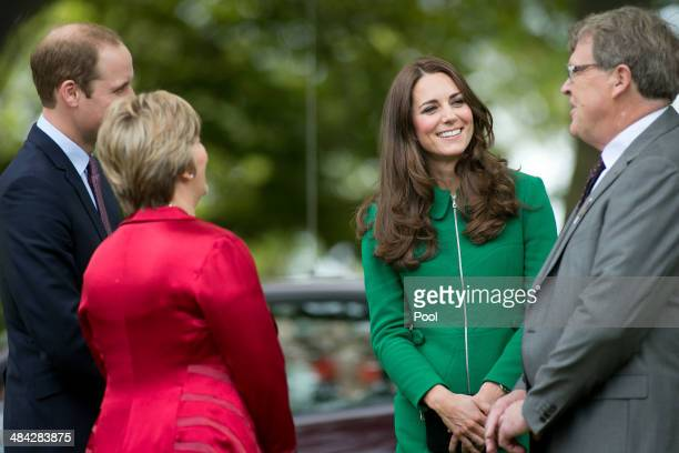 Robyn Mylchreest Prince William Duke of Cambridge Catherine Duchess of Cambridge and Waipa Mayor Jim Mylchreest arrive at the Cambridge Town Hall on...