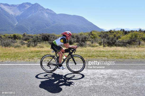 Robyn Owen of South Africa competes in the cycling stage of the 1 day individual competition during the Kathmandu Coast to Coast on February 10 2018...