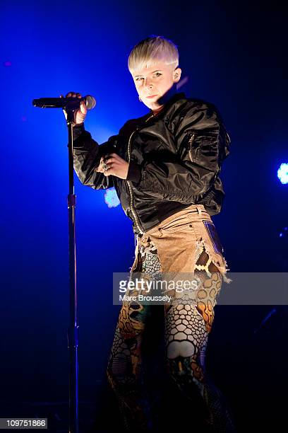 Robyn performs on stage at The Roundhouse on March 3, 2011 in London, England.