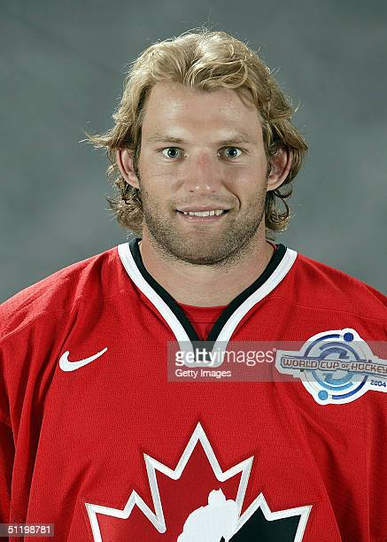 Robyn Regehr of Team Canada poses for a portrait during camp at the University of Ottawa Ottawa Ontario August 19 2004