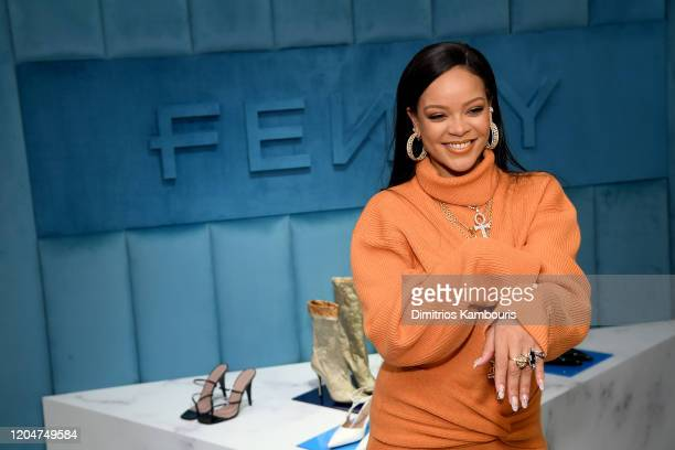 Robyn Rihanna Fenty and Linda Fargo celebrate the launch of FENTY at Bergdorf Goodman at Bergdorf Goodman on February 07 2020 in New York City