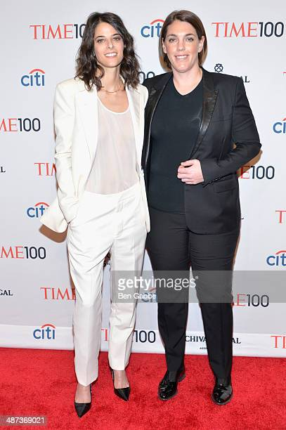Robyn Shapiro and Megan Ellison attend the TIME 100 Gala TIME's 100 most influential people in the world at Jazz at Lincoln Center on April 29 2014...
