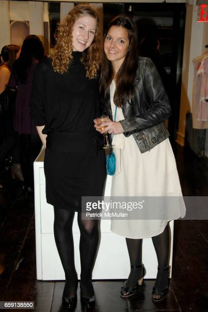 Robyn Spidell and Ludivine attend JEROME DREYFUSS Fall/Winter 2009 Collection at LUDIVINE Uptown at Boutique Ludivine on February 19 2009 in New York...