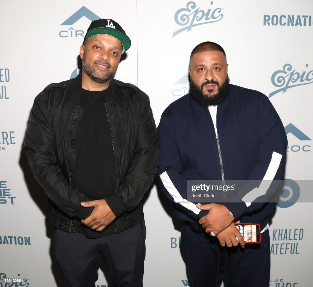 Roc Nation CEO Jay Brown and DJ Khaled attend DJ Khaled