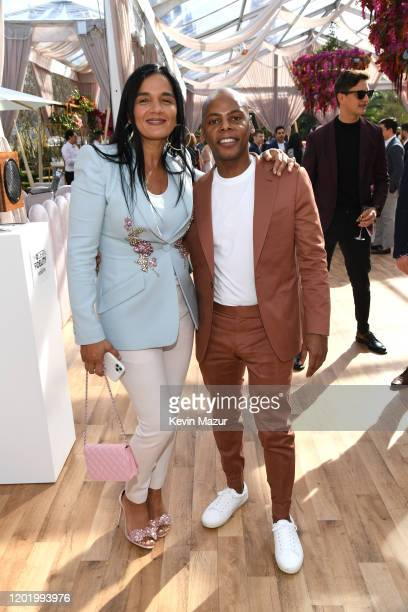 Roc Nation COO Desiree Perez and Tyran 'Tata' Smith attend 2020 Roc Nation THE BRUNCH on January 25 2020 in Los Angeles California