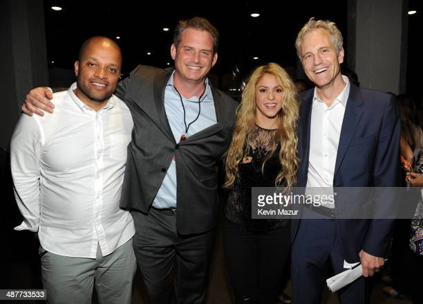 Roc Nation's Jay Brown Clear Channel National Programming Platforms President Tom Poleman recording artist Shakira and Clear Channel Media Holdings...